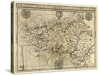 France - Panoramic Map-Lantern Press-Stretched Canvas Print