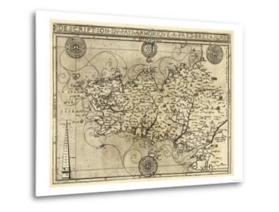 France - Panoramic Map-Lantern Press-Metal Print