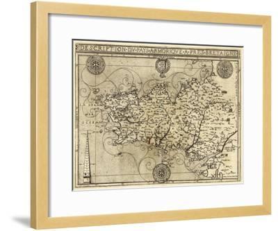 France - Panoramic Map-Lantern Press-Framed Art Print