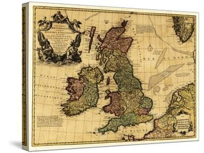 Great Britain - Panoramic Map-Lantern Press-Stretched Canvas Print