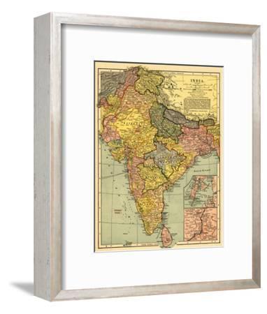 India - Panoramic Map-Lantern Press-Framed Art Print