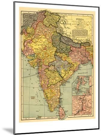 India - Panoramic Map-Lantern Press-Mounted Art Print