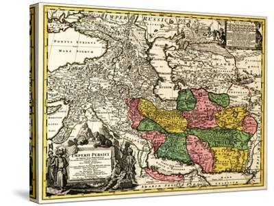 Iran - Panoramic Map-Lantern Press-Stretched Canvas Print
