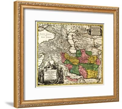 Iran - Panoramic Map-Lantern Press-Framed Art Print