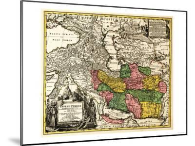 Iran - Panoramic Map-Lantern Press-Mounted Art Print