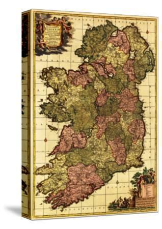 Ireland - Panoramic Map-Lantern Press-Stretched Canvas Print