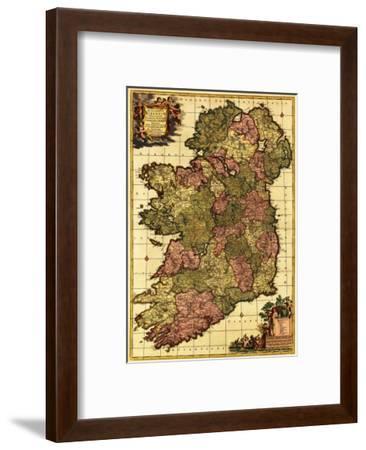 Ireland - Panoramic Map-Lantern Press-Framed Art Print