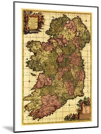Ireland - Panoramic Map-Lantern Press-Mounted Art Print