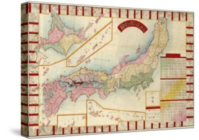 Japan - Panoramic Map-Lantern Press-Stretched Canvas Print