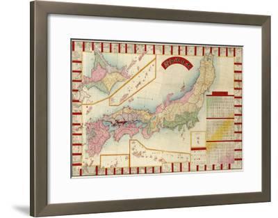 Japan - Panoramic Map-Lantern Press-Framed Art Print