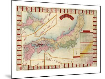 Japan - Panoramic Map-Lantern Press-Mounted Art Print