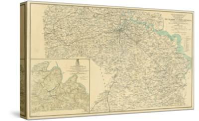 Battle of Chancellorsville - Civil War Panoramic Map-Lantern Press-Stretched Canvas Print