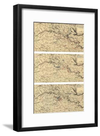 Battle of Chancellorsville - Civil War Panoramic Map-Lantern Press-Framed Art Print