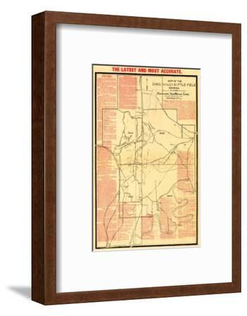 Battle of Chickamauga - Civil War Panoramic Map-Lantern Press-Framed Art Print