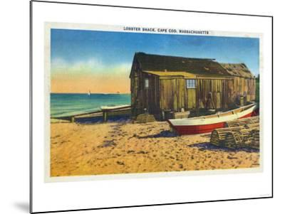 Cape Cod, Massachusetts - View of a Lobster Shack-Lantern Press-Mounted Art Print