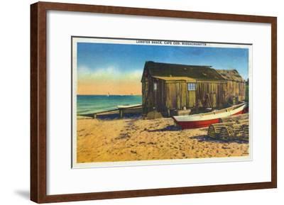 Cape Cod, Massachusetts - View of a Lobster Shack-Lantern Press-Framed Art Print