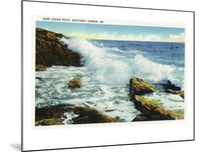 Boothbay Harbor, Maine - View of the Surf at Ocean Point-Lantern Press-Mounted Art Print