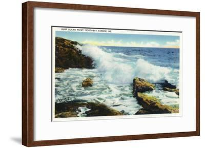 Boothbay Harbor, Maine - View of the Surf at Ocean Point-Lantern Press-Framed Art Print