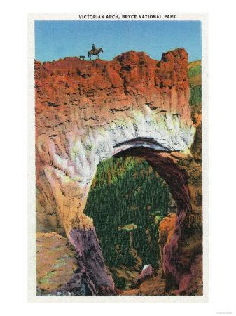 Bryce Canyon National Park, Utah - View of the Victorian Arch-Lantern Press-Framed Art Print