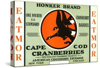 Cape Cod, Massachusetts - Honker Eatmor Cranberries Brand Label-Lantern Press-Stretched Canvas Print