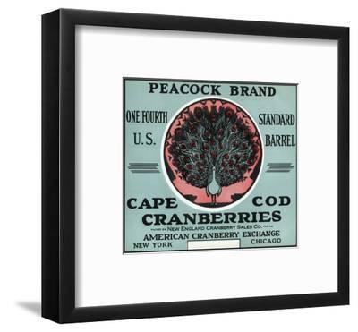Cape Cod, Massachusetts - Peacock Brand Cranberry Label-Lantern Press-Framed Art Print