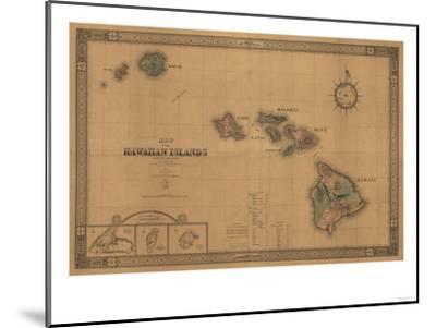 Hawaii - Panoramic State Map-Lantern Press-Mounted Art Print