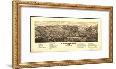 Colorado - Panoramic Map of Black Hawk-Lantern Press-Framed Art Print