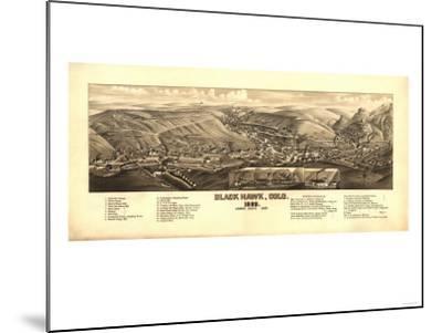 Colorado - Panoramic Map of Black Hawk-Lantern Press-Mounted Art Print