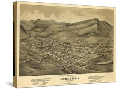 Montana - Panoramic Map of Helena No. 1-Lantern Press-Stretched Canvas Print