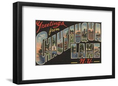 Chautauqua Lake - Large Letter Scenes-Lantern Press-Framed Art Print