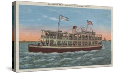 Galveston, TX - View of the Galvez-Lantern Press-Stretched Canvas Print