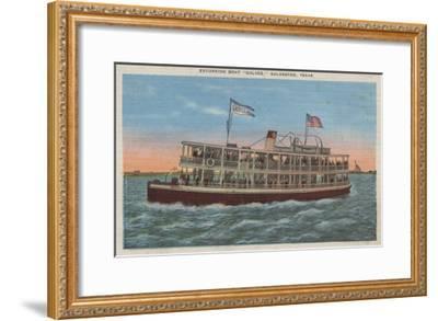Galveston, TX - View of the Galvez-Lantern Press-Framed Art Print