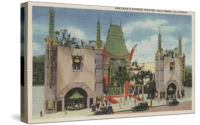 Hollywood, CA - View of Grauman's Chinese Theatre-Lantern Press-Stretched Canvas Print