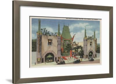 Hollywood, CA - View of Grauman's Chinese Theatre-Lantern Press-Framed Art Print