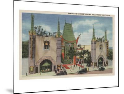 Hollywood, CA - View of Grauman's Chinese Theatre-Lantern Press-Mounted Art Print