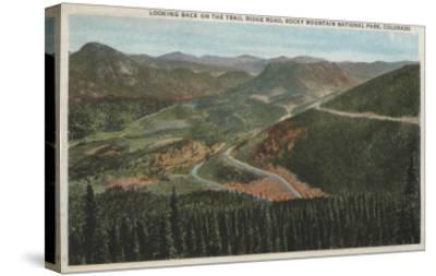 Rocky Mountain National Park - Trail Ridge Road-Lantern Press-Stretched Canvas Print