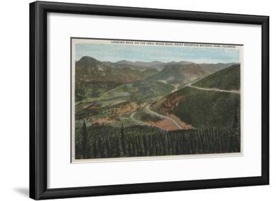 Rocky Mountain National Park - Trail Ridge Road-Lantern Press-Framed Art Print