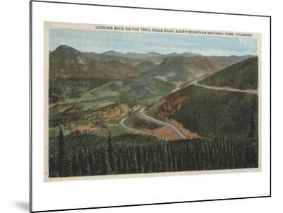 Rocky Mountain National Park - Trail Ridge Road-Lantern Press-Mounted Art Print