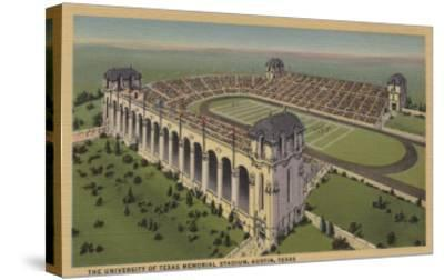 Austin, TX - The University of Texas Memorial Stadium from Air-Lantern Press-Stretched Canvas Print