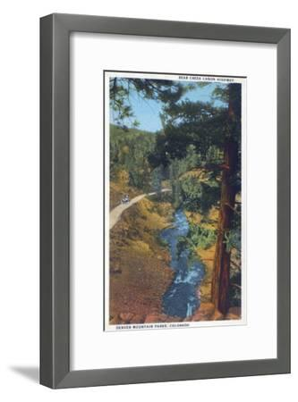 Denver Mountain Park, CO - Bear Creek Canyon Highway View-Lantern Press-Framed Art Print