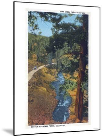 Denver Mountain Park, CO - Bear Creek Canyon Highway View-Lantern Press-Mounted Art Print