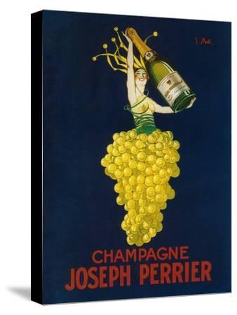France - Joseph Perrier Champagne Promotional Poster-Lantern Press-Stretched Canvas Print