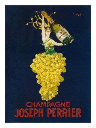 France - Joseph Perrier Champagne Promotional Poster-Lantern Press-Premium Giclee Print