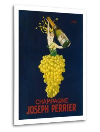 France - Joseph Perrier Champagne Promotional Poster-Lantern Press-Metal Print