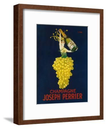 France - Joseph Perrier Champagne Promotional Poster-Lantern Press-Framed Art Print