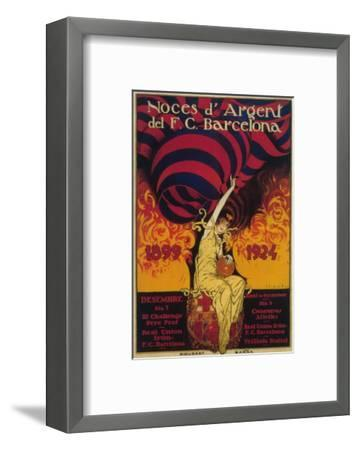 Barcelona, Spain - Soccer Promo Poster-Lantern Press-Framed Art Print