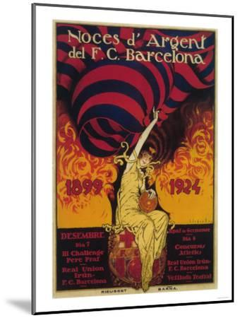 Barcelona, Spain - Soccer Promo Poster-Lantern Press-Mounted Art Print
