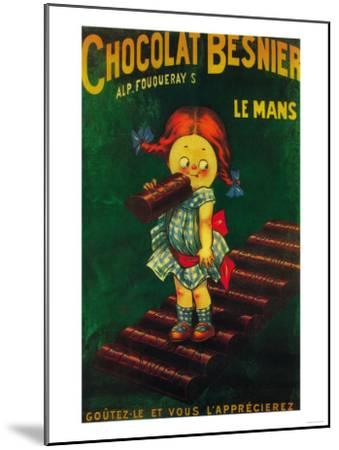 France - Besnier Chocolate Promotional Poster-Lantern Press-Mounted Art Print