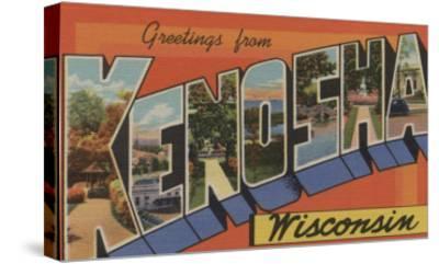 Kenosha, Wisconsin - Large Letter Scenes-Lantern Press-Stretched Canvas Print