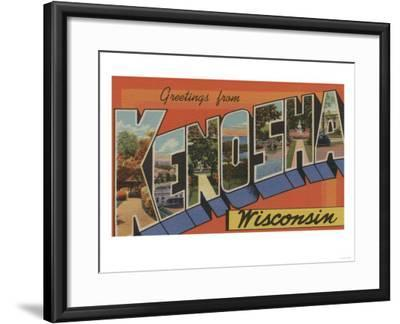 Kenosha, Wisconsin - Large Letter Scenes-Lantern Press-Framed Art Print